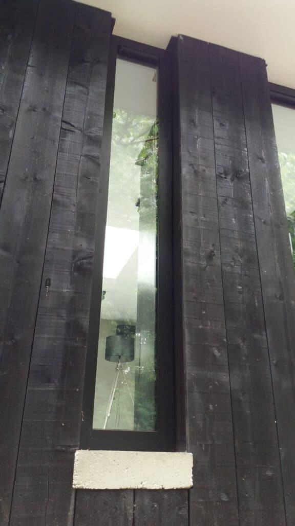 Schuifpui in een souterrain